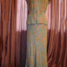 Compleu din matase naturala Jones New York Signature - Costum dama Jones New York, Marime: L, Costum cu fusta