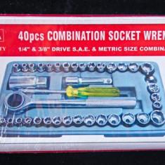 Trusa de chei tubulare - 40 de piese - Cheie mecanica