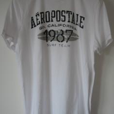 Tricou Aeropostale USA, L, original 100%, bumbac 100%, nou cu eticheta - Tricou barbati Aeropostale, Marime: L, Culoare: Alb, Maneca scurta
