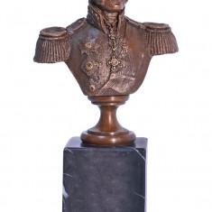 Sculptura, Abstract, Bronz - BUSTUL GENERALULUI BRAGATION- STATUETA DIN BRONZ PE SOCLU DIN MARMURA