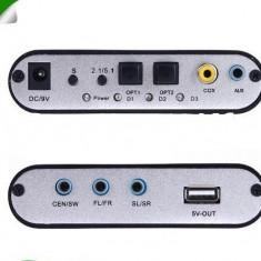 Placa de sunet PC - Convertor Audio Gear DTS/AC-3/6CH Digital Audio, Digital Audio Decoder 5.1