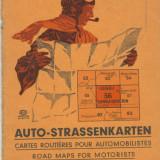 Harta Auto, 1:300.000, anii 1930-40, pentru zona Lugoj-Turnu Severin