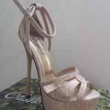 Pantofi dama Fashion Paolo Bocelli NR 35. - Pantof dama, Culoare: Auriu