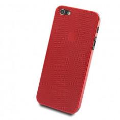 Husa Telefon Apple, Rosu, Metal / Aluminiu, Husa - Husa iPhone 5, 5s, SE, lux -100% aluminiu perforat, nu piele, 0.3 mm, rosu