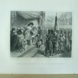 Tablou, Altul, Altul - Gravura Pacea de la Campo - Formio incheiata intre Napoleon si Francisc I al Austriei 1797 Raffet Paris 1878