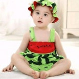 Haine Copii 1 - 3 ani - Costumas copii model PEPENE cu palarioara