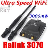 Adaptor wireless - WiFi password decoder acces internet de mare putere 3000mW USB