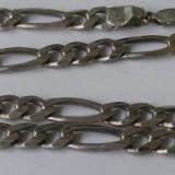 Lant vechi din argint masiv barbatesc