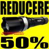 PRET BOMBA! Lanterna SWAT cu LED CREE Q5 USA + Incarcator CASA / MASINA AUTO+ Acumulator ULTRAFIRE 18650 4200mAh + 3 Faze + Lupa + Zoom police