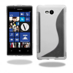 Husa Nokia Lumia 820 TPU S-LINE Transparenta - Husa Telefon Nokia, Gel TPU, Fara snur, Carcasa