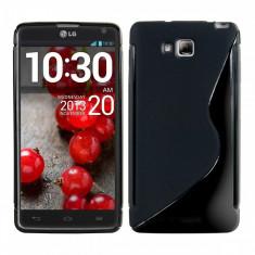 Husa LG Optimus L9 II D605 TPU S-LINE Black, Negru, Gel TPU, Carcasa, Fara snur