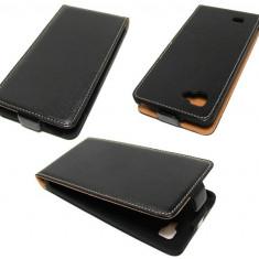 Husa LG Optimus 4X HD P880 Flip Case Slim Inchidere Magnetica Black, Negru, Piele Ecologica, Toc, Cu clapeta