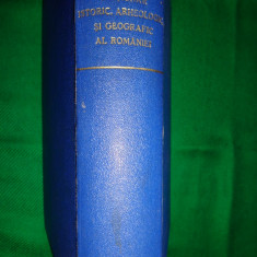 Carte veche - Dictionar istoric, arheologic si geografic al Romaniei( an 1937)-O.G.Lecca