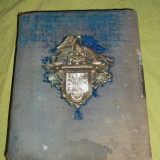 album pentru fotografii de cabinet si carte de visite sfarsitul sec XIX