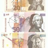 Bancnota Straine, Europa - SLOVENIA - LOT 3 BANCNOTE / 1993. XF/ UNC.