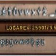 Sablon litere 3, 5 mm Logarex, pentru tras in tuş