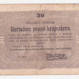 (3) BANCNOTA UNGARIA - 30 PENGO 1849