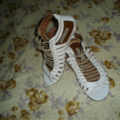 Sandale Zara piele - Sandale dama Zara, Marime: 37