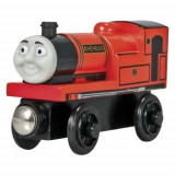 Trenulet de jucarie, Lemn, Unisex - Wooden trenulet jucarie Thomas - RHENEAS locomotiva din lemn cu magnet - NOU