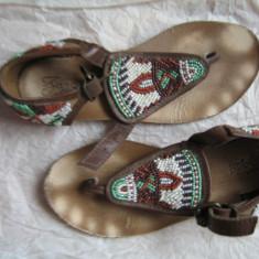 Sandale piele ZARA - Sandale copii Zara, Marime: 31, Culoare: Coniac, Fete