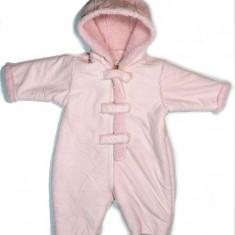 Salopeta stil cojoc - iarna fetite - 0 - 3 luni - Debenhams - E248, Culoare: Roz