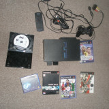 PlayStation Sony PS2 + card memorie 8 MB + 1 joystick + Jocuri FIFA13, PES4, GTA3, Silent Hill 2, Metal Gear Solid 2 - PlayStation 2