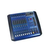 Mixer profesional amplificat 700 watt, 8 canale mp3 player usb, efecte voce DSP. - Mixer audio