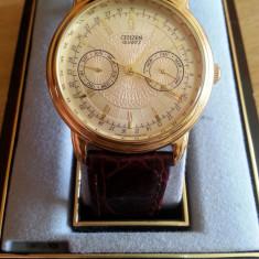 Ceas CITIZEN Elegance 6355 G31191 (Dress Watch) Stare excelentă - Ceas barbatesc Citizen, Elegant, Quartz, Metal necunoscut, Piele, Calendar perpetuu