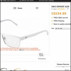 Rama ochelari D&G - Rama DG 5103 1129 autentic