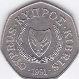 Moneda Cipru 50 Centi 1991 - KM#66 XF, Europa