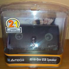 Boxe 2.1 A4Tech AV-100 Stereo USB 2.2 W - Boxe PC A4tech, 0-40W