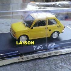 Macheta metal DeAgostini - Fiat 126P -SIGILATA + Revista Masini de Legenda nr.34 - Macheta auto, 1:43