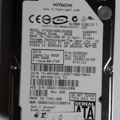 Hard disk laptop notebook HDD SATA Hitachi 80GB DEFECT ( HTS541680J9SA00 ) - HDD laptop Hitachi, 41-80 GB, SATA2