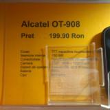 Alcatel OT 908 - Telefon Alcatel, Mov, <1GB, Neblocat, Single core, Nu se aplica