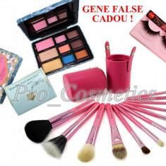 Trusa Farduri Too Faced Summer Eyes + 12 Pensule Profesionale Machiaj Fraulein38 Pink Extravaganza + CADOU Gene False High-Class A 41