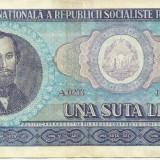 ROMANIA- 100 LEI 1966- seria A 0203- 447821