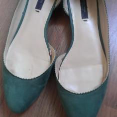 Balerini dama Zara, Marime: 38, Verde - Balerini Zara marimea 38