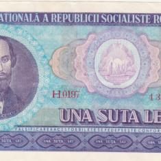 Bancnote Romanesti - 100 Lei 1966 aunc