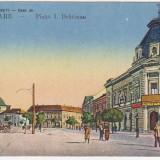 Satu Mare,Piata I.C.Bratianu,necirculata,animatie,trasura, cca.1917