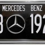 Placuta (placa) de inmatriculare decorativa - numar de inmatriculare - Mercedes - Metal/Fonta