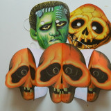 Set de 4 produse pentru copii, Halloween, deghizare de Halloween, schelet masca - Costum copii
