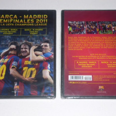 DVD fotbal - semifinala Champions League 2011 - REAL MADRID - FC BARCELONA (original cu meciuri tur, retur)