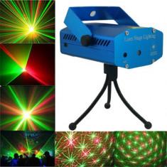 Laser disco lumini club PUNCTE ROSI + VERZI - Echipament DJ Altele