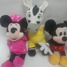 Plus Minnie si Mickey Disney - MICKEY MOUSE, MINIE MOUSE si Zebra Zu DIN CLUB HOUSE MICKEY DISPONIBILE IN VARIANTA MEDIE 30 CM