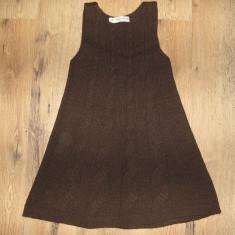 SUPER PRET! Super rochie tricotata din lana/ tunica dama ZARA KNIT sz S/M ! - Rochie de zi Zara, Culoare: Coffee, Midi, Fara maneca