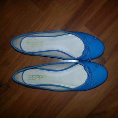 Balerini ESPRIT de lac albastri - Balerini dama Esprit, Marime: 40, Culoare: Albastru, Albastru
