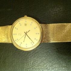 Ceas de aur 18k, omega - Ceas barbatesc Omega, Lux - elegant, Ziua si data, Analog