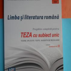 Manual scolar, Art, Romana - HOPCT LIMBA SI LITERATURA ROMANA CLASA VIII A -PREGATIRE COMPLETA PENTRU TEZA CU SUBIECT UNIC -EXTRAS ;SEMESTRUL II -EDITURA GRUP ART -183 PAGINI