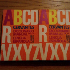 Cervantes * DICCIONARIO MANUAL de la LENGUA ESPANOLA --- F. Alvero Frances -- 2 volume, 1976, 932 p. - Dictionar Altele