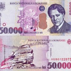 Bancnote Romanesti, An: 2000 - ROMANIA 50.000 lei 2000 UNC!!!